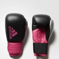 Sarung Tinju Adidas Hybrid 100 Black Pink 8Oz