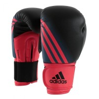Sarung Tinju Muaythai 10 Oz Adidas Speed 100 Boxing Glove Black Red