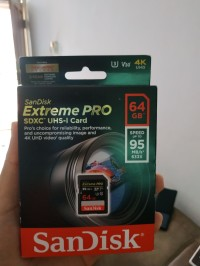 Sandisk SD Extreme Pro 64GB 95Mb/s 4k Ready