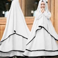 [Syari Ramadhani Kids Putih SW] gamis mulim anak serena putih