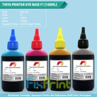 1set CMYK Tinta Printer HP F1 Dye Base Ink Refill 100ml