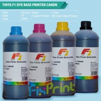 Tinta Printer F1 Dye Base 1 Liter Ink Refill Canon Epson HP Brother