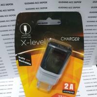 KEPALA CHARGER X-LEVEL VIZZ 1USB 2A