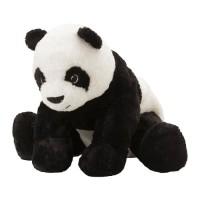 IKEA KRAMIG Boneka Panda, putih, hitam