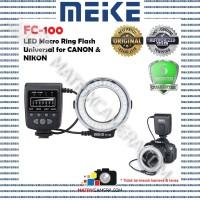 MEIKE FC100 FC-100 LED Macro Ring Flash Universal for Canon Nikon etc.