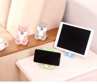 Dudukan HP Tablet kayu Motif Anjing - Wooden Phone and Tablet Holder