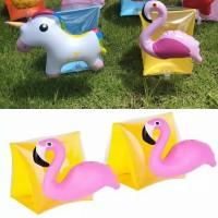 Ban Renang Arm Band Pelampung Lengan Flamingo Unicorn Little Pony