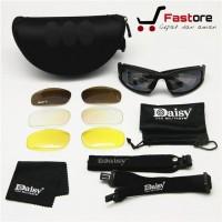 Kacamata Daisy X7 Polarized 4 Lensa / Kacamata Sport Tactical Motor