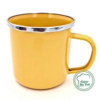 Premium Mug Enamel POLOS 400ml / Cangkir Kopi Seng