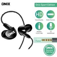 Onix Wired Headset SE-01- Bass Expert Karakter Suara KERAS+BASS