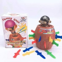 Mainan Pirate Roulette Barrel | Tong Bajak Laut