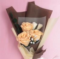 Buket Bunga Flanel Mawar Cantik
