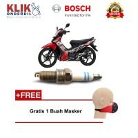Bosch Busi Sepeda Motor Honda Supra U4AC - 2 Busi - Gratis Masker