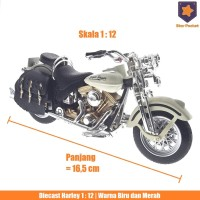 Diecast Harley Davidson Classic Motorcycle | skala 1:12