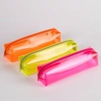 Tas Pouch Kotak Pensil Transparant Pouch Travel Gadget Organizer