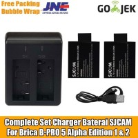 Set Batre Baterai SJCAM Charger For Brica B-PRO 5 Alpha Edition 1 & 2