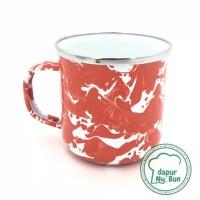 Premium Mug Enamel BLIRIK / BLURIK 400ml / Cangkir Kopi Seng