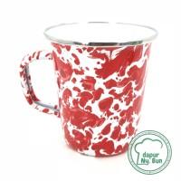 Premium Mug LATTE Enamel BLIRIK / BLURIK 470ml / Cangkir Kopi Seng