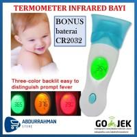 Termometer Bayi LCD Digital Infrared Thermometer Telinga & Dahi 8 in 1