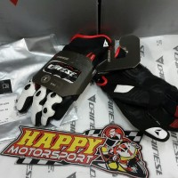 Sarung tangan Glove merk DAINESE D1 Short Carbon blk/wht/red size L