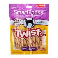 Dog Snack Premium SMARTBONES Twist Stick Bacon and Cheese 50pcs