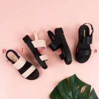 Pluvia - Sandal Wanita Platform Ankle Strap JP16