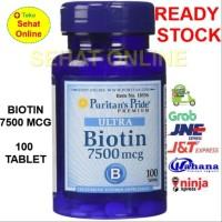 Puritan Biotin 7500 mcg - 100 Vegetarian Tablets Puritan's Pride USA