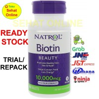 Eceran Natrol Biotin 10.000mcg paket ekonomis