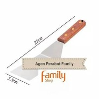 SPATULA SUTIL CUTTER PIZZA MARTABAK TEPPANYAKI KAYU GRIDDLE WOOD