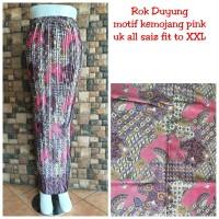 Rok Plisket Naurah Panjang Maxi Batik Jumbo Wanita