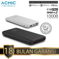 ACMIC C10PRO 10000mAh Power Bank Quick Charge 3.0 + PD Power Delivery