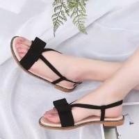Sepatu wanita flat sendal murah sandal pita flip flop