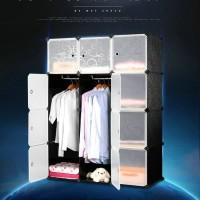 Unik Magic Wardrobe Lemari Baju Plastik DIY 12 Pintu Diskon