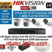 PROMO PAKET CCTV HIKVISION 2MP 4CHANEL