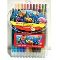 Kenko twist crayon 12 warna murah lengkap pastel oil lukis gambar
