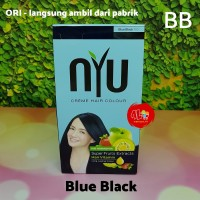 BB Pewarna Cat Rambut NYU Creme Hair Colour Warna Blue Black