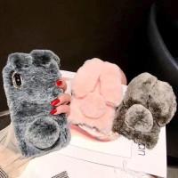 Fashion Luxury Rex Rabbit Fluffy Fur Case Iphone Xs