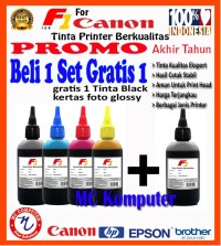 Promo Tinta Printer (canon, hp, epson - F1 ink 100ml 1 Set) Free 1
