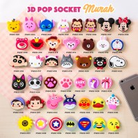 Popsocket 3D Karakter/ 3D Cartoon Popsockets/ Popsocket PVC (MURAH)
