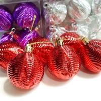 Bola Natal Kerang isi 6 Dekorasi Parcel Natal Murah Hiasan Bola Santa