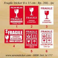 Sticker Fragile PALING MURAH - Uk. 8x11 cm