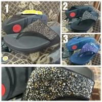 Sandal Jepit Wanita/Sandal fitflop pasir/Sandal fitflop - navy