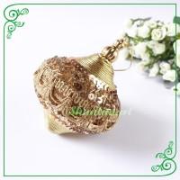 Ball Bloom Gold Bola Emas Dekorasi Hiasan Pohon Natal Christmas Gift
