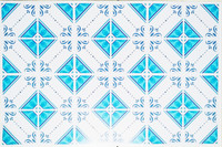 Stiker Lantai, Sticker Tangga Tegel Kuntji Motif Bersambung