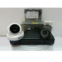 PAKET CCTV 2 KAMERA HISOMU GARANSI PRODUK 1 TAHUN