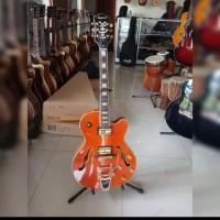 Gitar Listrik / Elektrik Epiphone Emperor Swingster Bigsby Part Gold