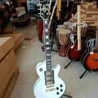 Gitar Listrik Elektrik Epiphone White Beauty Original 3 Pick up