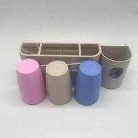 DO - 3G set dispenser odol tempat sikat gigi dengan 3 gelas