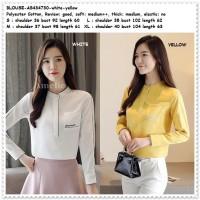 Baju Atasan Kemeja Wanita Putih Blouse Korea Import AB434730 Tunik