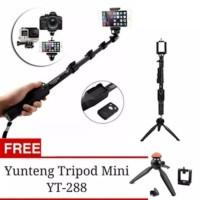 Paket Selfie Yunteng Tongsis Bluetooth YT-1288 + Mini Tripod YT 228